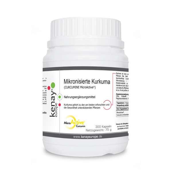 CURCUMINE MicroActive® (mikronisierte Kurkuma), (300 Kapseln) - Nahrungsergänzungsmittel