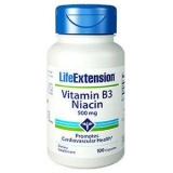 Vitamin B3 Niacin 500mg LifeExtension (100 Kapseln)