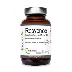 Resvenox Natürliches Resvertarol-Trans 95% (60 Kapseln)-Nahrungsergänzungsmittel