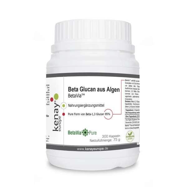 Beta Glucan aus Algen BetaVia™ (300 Kapseln)-Nahrungsergänzungsmittel