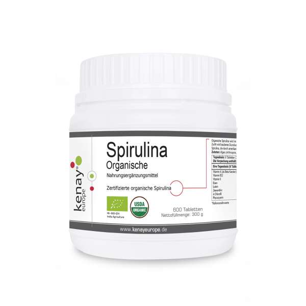 Organische Spirulina (600 Tabletten) - Nahrungsergänzungsmittel