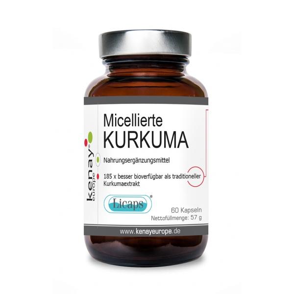 Micellierte Kurkuma Licaps (60 Kapseln) - Nahrungsergänzungsmittel