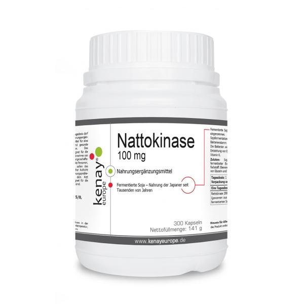 Nattokinase 100 mg (300 Kapseln) - Nahrungsergänzungsmittel