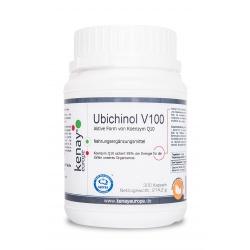 Ubichinol V100 Aktive Form von Koenzym Q10 ( 300 Kapseln ) - Nahrungsergänzungsmittel
