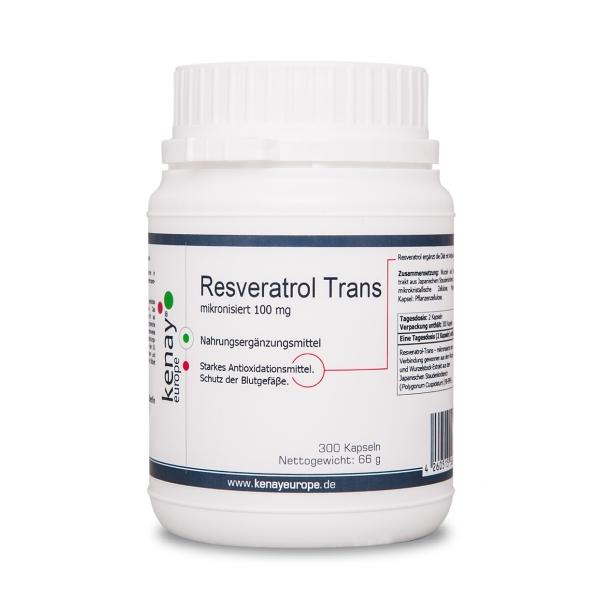 Resveratrol mikronisiert 100 mg (300 Kapseln) - Nahrungsergänzungsmittel