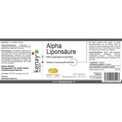 Alpha Liponsäure (60 Kapseln) - Nahrungsergänzungsmittel